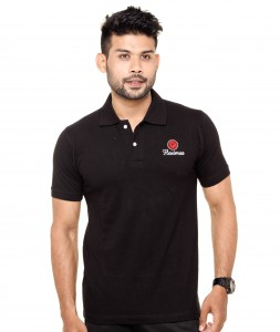Collar Polo T-Shirt Black Color3
