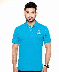 Collar Polo T-Shirt Blue Color