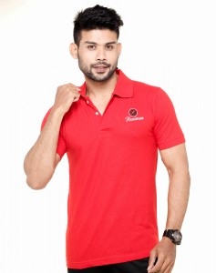 Collar Polo T-Shirt Red Color