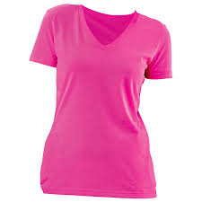 v neck pink ladies t shirt