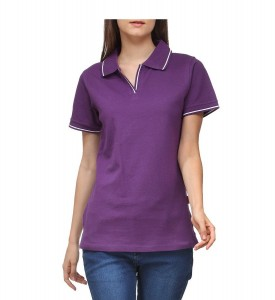 womens tipped polo shirts